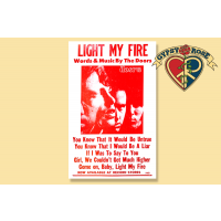 "THE DOORS ""LIGHT MY FIRE"" CONCERT POSTER"