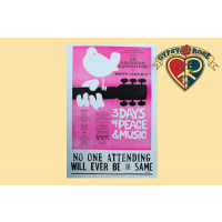 WOODSTOCK 3 DAYS OF PEACE & MUSIC CONCERT POSTER