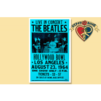 THE BEATLES AT THE HOLLYWOOD BOWL CONCERT POSTER