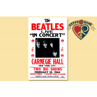 BEATLES AT CARNEGIE HALL CONCERT POSTER
