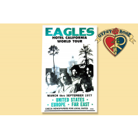 THE EAGLES HOTEL CALIFORNIA CONCERT POSTER