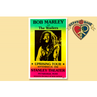 BOB MARLEY STANLEY THEATER PITTSBURGH, PA 1980 CONCERT POSTER