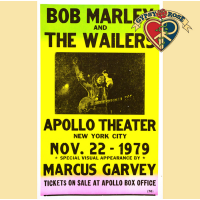 BOB MARLEY APOLLO THEATER CONCERT POSTER