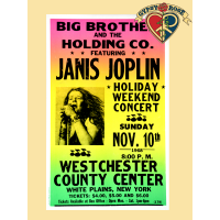 Big Brother and the Holding Company Featuring Janis Joplin Concert Poster