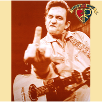 JOHNNY CASH FINGER SEPIA PRINT
