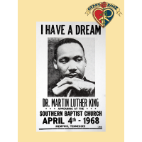 I Have Dream Martin Luther King Historical Poster