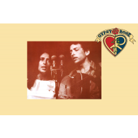 JOAN BAEZ AND BOB DYLAN SEPIA PRINT MINI POSTER