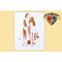 JOHN LENNON & YOKO TWO VIRGINS ALL NATURAL SEPIA PRINT
