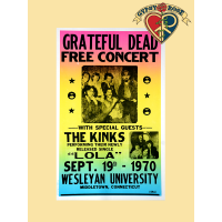 Grateful Dead with The Kinks Concert Poster