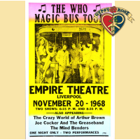 "THE WHO ""MAGIC BUS TOUR"" 1968 LIVERPOOL CONCERT POSTER"