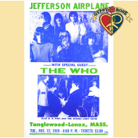 JEFFERSON AIRPLANE AND THE WHO 1969 CONCERT POSTER