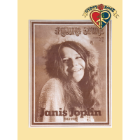 JANIS ROLLING STONE SEPIA PRINT