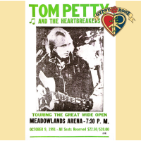 TOM PETTY AND THE HEARTBREAKERS MEADOWLANDS 1991 CONCERT POSTER