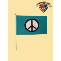 Peace Sign Mini Flag