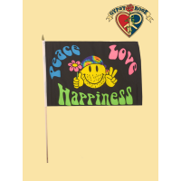 Peace Love Happiness Mini Flag