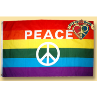 RAINBOW WITH PEACE SIGN