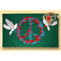 PEACE AND LOVE ROSES FLAG