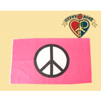 Pink Peace Sign Flag