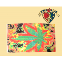 Tye Dye Marijuana Leaf Flag
