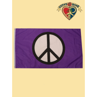 Peace Symbol On Purple Flag
