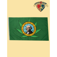 Washington State Seal and Leaf Flag