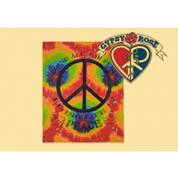 Tye Dye Imagine Peace Tapestry