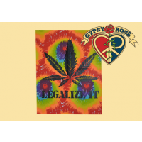 Tye Dye Legalize It Pot Leaf Tapestry