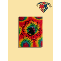 GRATEFUL DEAD DANCING BEAR WORLD TIE DYE TAPESTRY