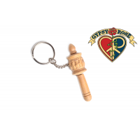 Peaceful Prayers Hand Carved Wooden Tibetan Prayer Wheel Keychain