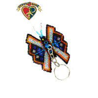 Flutter By Butterfly Seed Bead Keychain