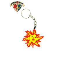 Sun Shiny Day Seed Bead Keychain