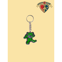 Green Dancing Bear Keychain