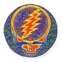 GRATEFUL DEAD STEAL YOUR FACE RUSTY BLUE STICKER