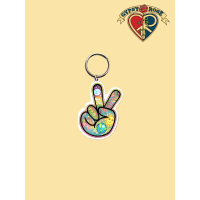 Peace Finger Keychain