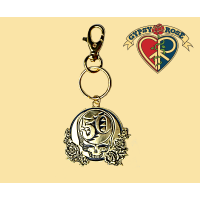 Grateful Dead 50th Anniversary Steal Your Face Gold-Tone Keychain