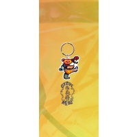 GRATEFUL DEAD ROSE DANCING BEAR KEYCHAIN