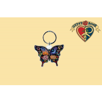NIGHT & DAY BUTTERFLY KEYCHAIN