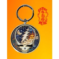 GRATEFUL DEAD NIGHT & DAY STEAL YOUR FACE KEYCHAIN