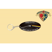 PINK FLOYD DARK SIDE OF THE MOON RUBBER KEY CHAIN