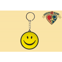 RUBBER SMILEY KEYCHAIN