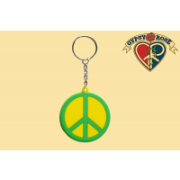 RUBBER PEACE SIGN KEYCHAIN