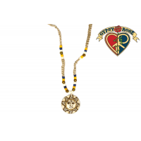 Lively Sun Carved Bone Pendant Hemp Necklace