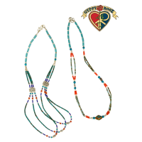 Tibetan Stone Assorted Pattern Necklace