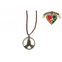 NAMASTE HANDS PENDANT ON LEATHER CORD NECKLACE