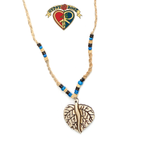 Be Leaf In Nature Hemp Bone Bead Necklace