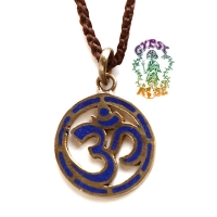 INNER PEACE OM GEMSTONE PENDANT NECKLACE