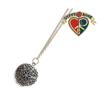 Essential Oils Filigree Round Diffuser Necklace