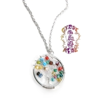 GLASS BEAD TREE OF LIFE NECKLACE