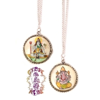 HINDU GOD OM SHANTI OM NECKLACE