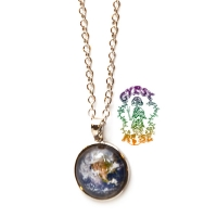 Eyes Of The World Glass Dome Earth Necklace
